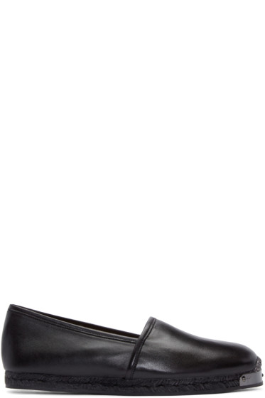 Giuseppe Zanotti - Black Leather Loafers