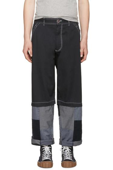 Comme des Garçons Shirt - Navy Patchwork Trousers