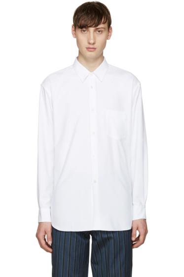 Comme des Garçons Shirt - White Brushed Cotton Shirt