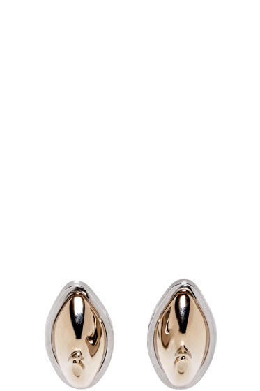 Givenchy - Gold & Silver Shark Earrings