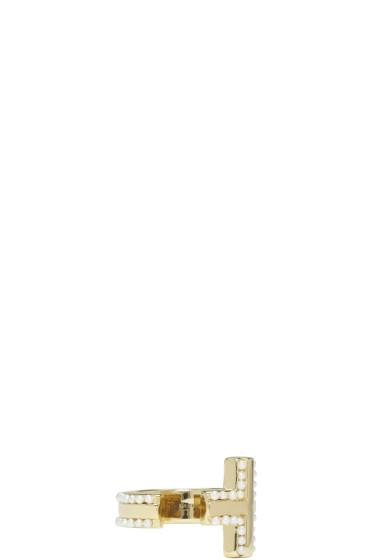 Givenchy - Gold T-Bar Ring