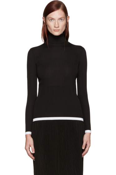Givenchy - Black & White Ribbed Turtleneck