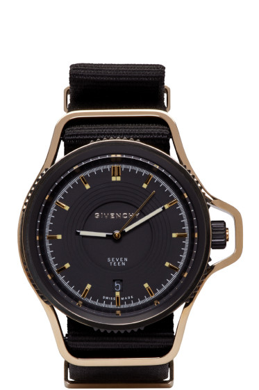 Givenchy - Black & Gold Seventeen Watch