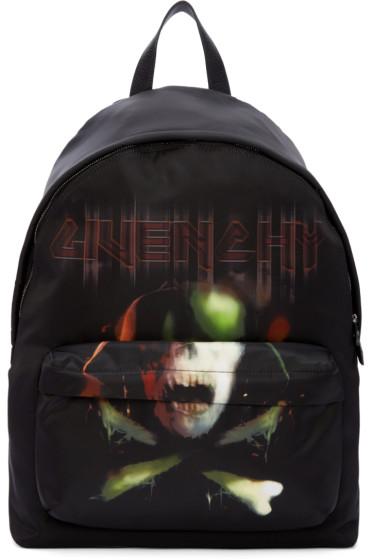 Givenchy - Black Skull Backpack