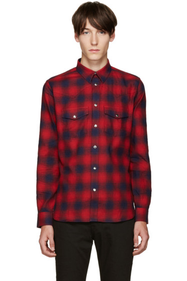 Givenchy - Red Plaid Shirt