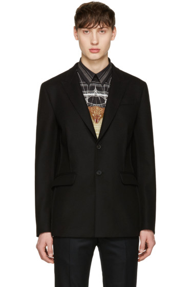 Givenchy - Black Deconstructed Jacket