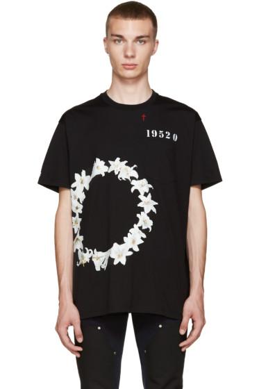 Givenchy - Black Circle Of Flower T-Shirt