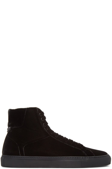 Givenchy - Black Velvet Knots High-Top Sneakers