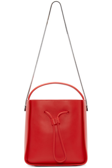 3.1 Phillip Lim - Red Leather Small Soleil Bag