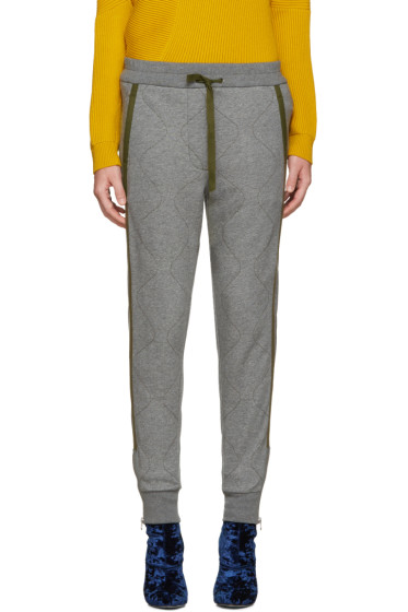 3.1 Phillip Lim - Grey Quilted Lounge Pants
