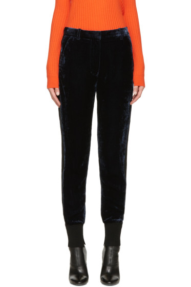 3.1 Phillip Lim - Navy Velvet Lounge Pants