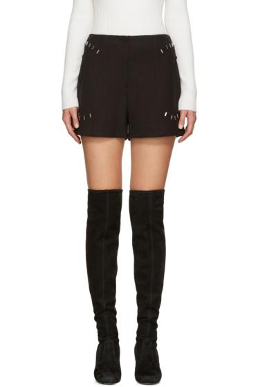 3.1 Phillip Lim - Black High-Rise Shorts
