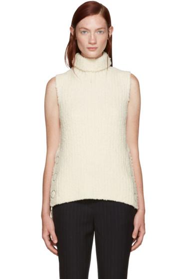 3.1 Phillip Lim - Ivory Textured Wool Turtleneck