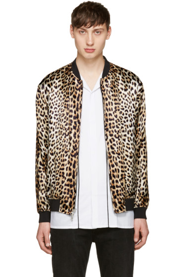 3.1 Phillip Lim - Black & Tan Reversible Bomber Jacket