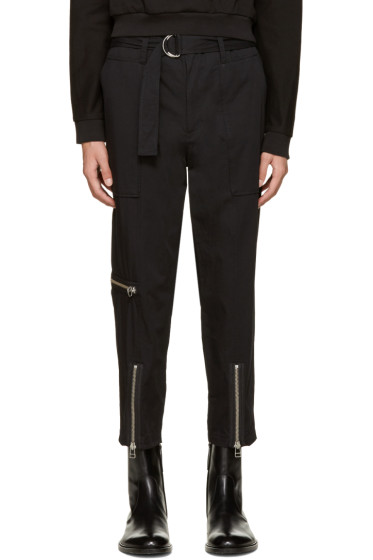 3.1 Phillip Lim - Black Belted Cropped Trousers