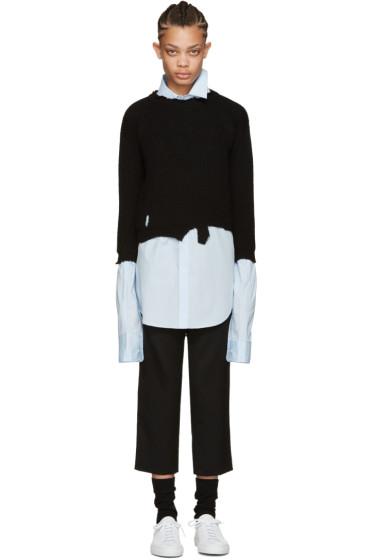 Raf Simons - Black Wool Destroyed Sweater