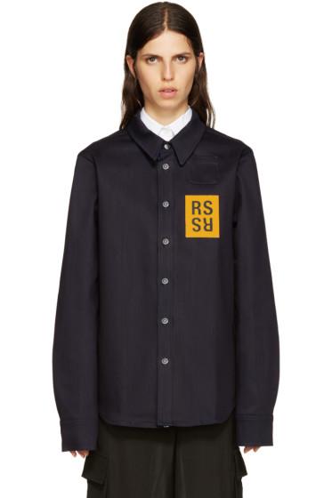 Raf Simons - Navy Denim Patch Shirt