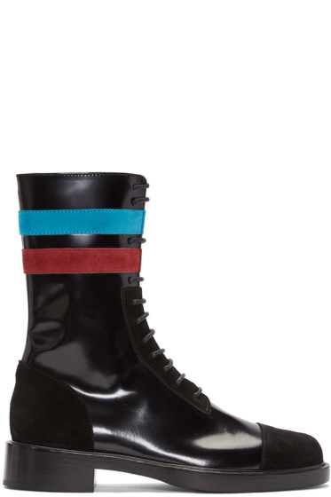Raf Simons - Black Stripes Boots