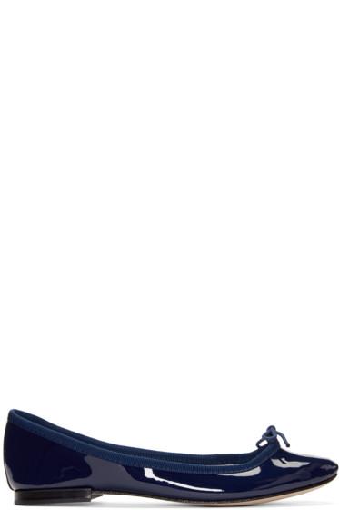 Repetto - Blue Patent Cendrillon Ballerina Flats