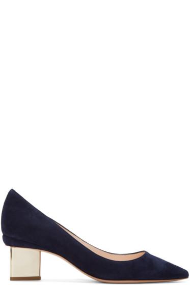 Nicholas Kirkwood - Navy Suede Prism Heels