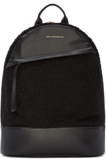 Want Les Essentiels - Black Bouclé Piper Backpack