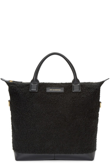 Want Les Essentiels - Black Wool Mirabel Tote