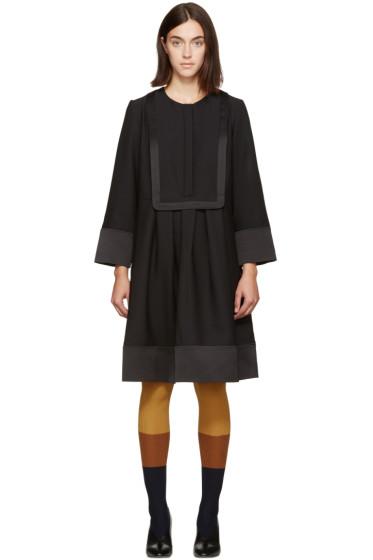 Carven - Black Bib Front Dress