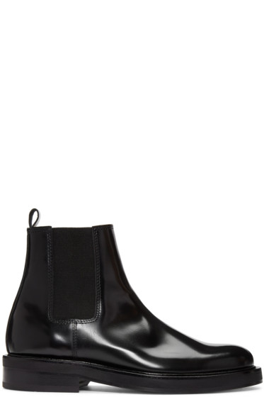 Carven - Black Leather Chelsea Boots