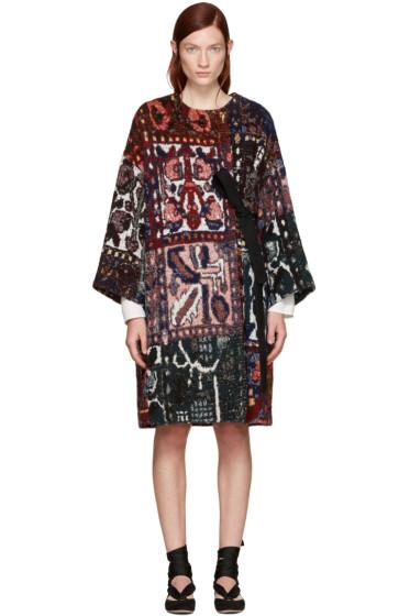 Chloé - Multicolor Jacquard Blanket Coat