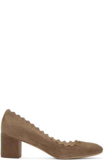 Chloé - Brown Suede Lauren Heels