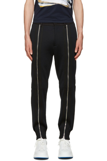 Juun.J - Black Zippered Trousers