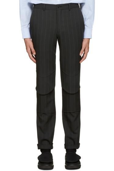 Comme des Garçons Homme Plus - Grey Striped Trousers