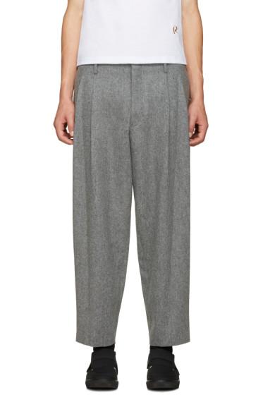Comme des Garçons Homme Plus - Grey Flannel Trousers