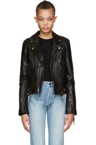 BLK DNM - Black Leather Classic Moto Jacket