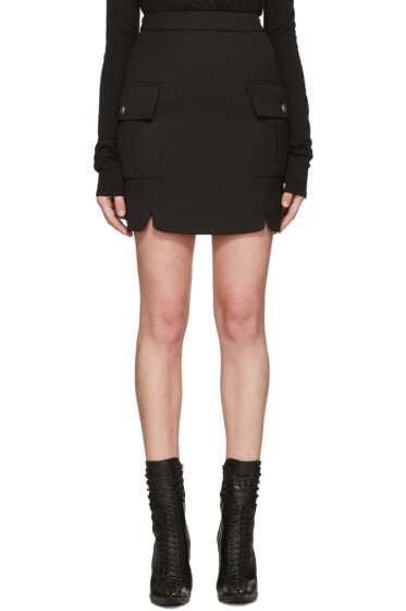 Pierre Balmain - Black Pockets Skirt