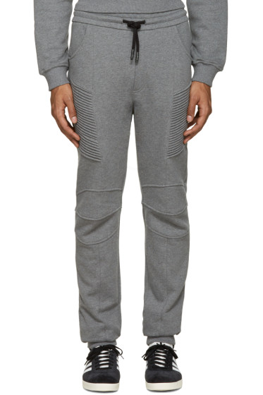 Pierre Balmain - Grey Biker Lounge Pants