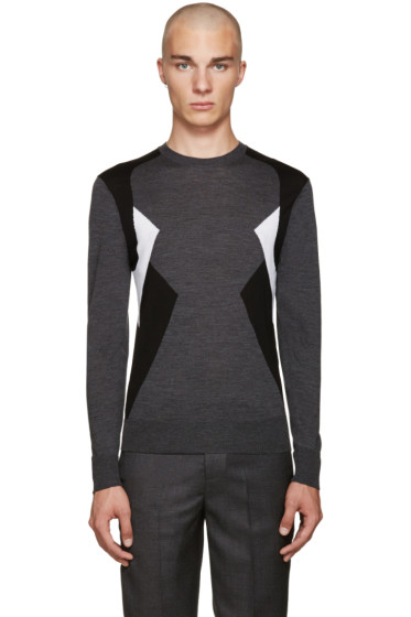 Neil Barrett - Grey Modernist Sweater