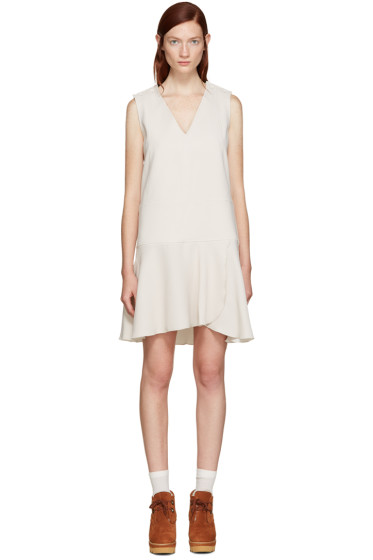 See by Chloé - Off-White V-Neck Dress
