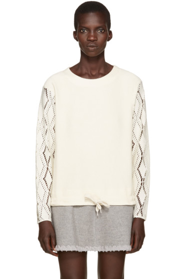 See by Chloé - Off-White Pointelle Sweater