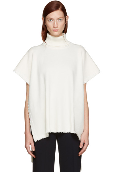 See by Chloé - White Side-Tie Turtleneck