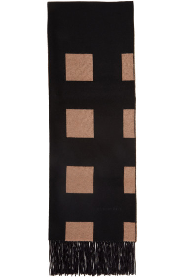 Burberry - Black and Beige Check Scarf
