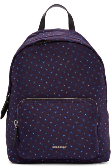 Burberry - Purple Pindot Print Backpack