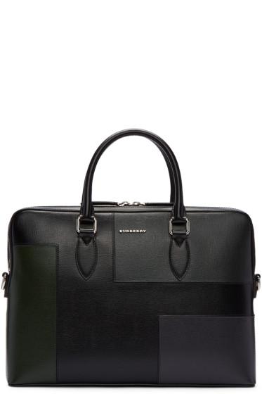 Burberry - Black Barrow Patchwork Briefcase