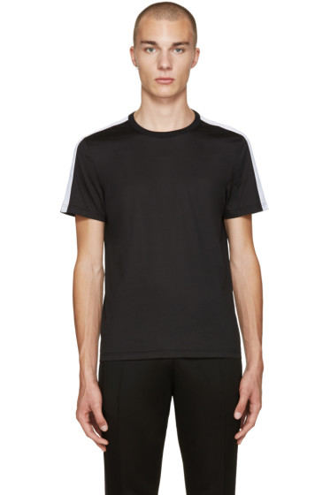 Burberry - Black Sports Stripe T-Shirt