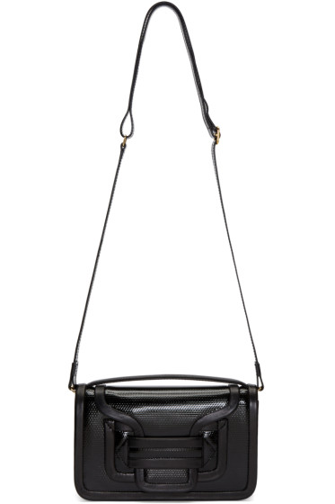 Pierre Hardy - Black Embossed Calfskin Alpha Crossbody Clutch
