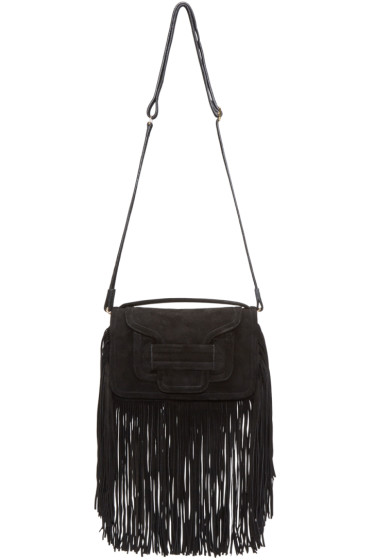 Pierre Hardy - Black Suede Fringed Alpha Clutch