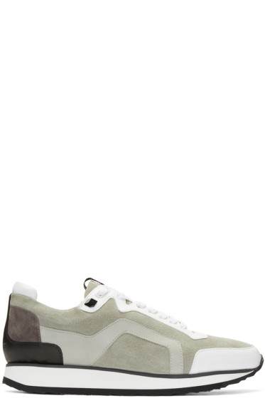 Pierre Hardy - Grey Suede Track Sneakers