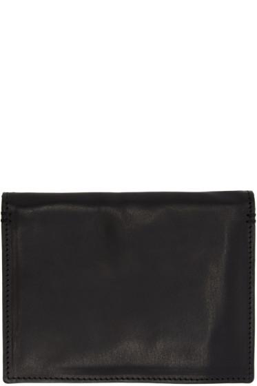 Ann Demeulemeester - Black Leather Jacky Passport Holder