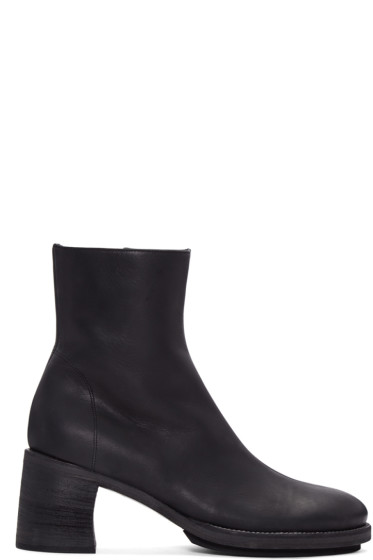 Ann Demeulemeester - Black Leather Lavato Boots