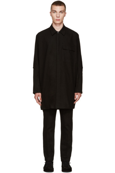 Ann Demeulemeester - Black Flannel Oversized Shirt